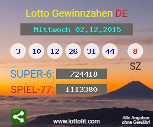 Lottozahlen 30.12.15