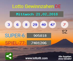 Lottozahlen 21.2 18