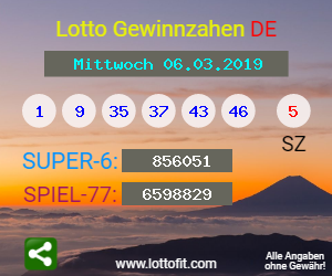 Lottozahlen Vom 20.06.20