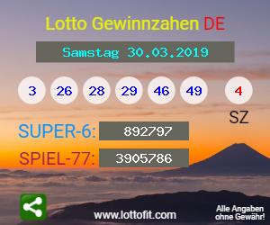 Lottozahlen Vom 30.03.19