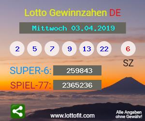 Lottozahlen 3.4 19
