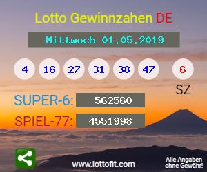 Lottozahlen 01.05 19
