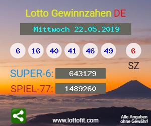 Lottozahlen 22.05 20