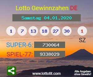 Lottozahlen Vom 18.07.20