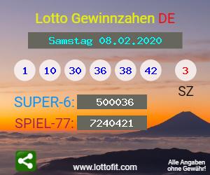 Lottozahlen 08.02.20
