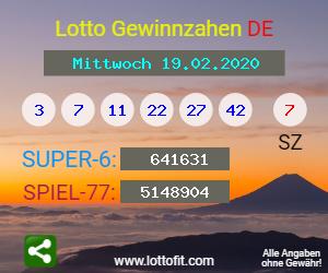 Lottozahlen 19.02.20
