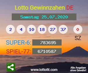 Lotto 25.7.20